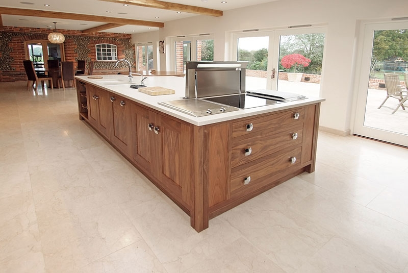 walnut kitchen island bespoke kitchens handmade for norfolk east anglia amp 3345