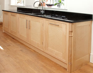 Birdseye Maple kitchen cabinets