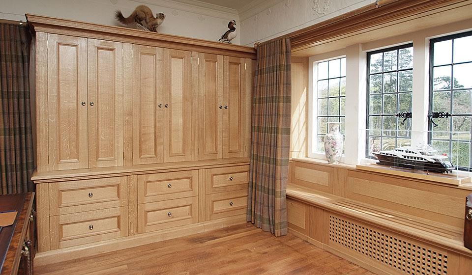 Oak Filing cabinet and window seat